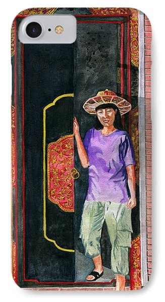 IPhone Case featuring the painting At Puri Kelapa by Melly Terpening