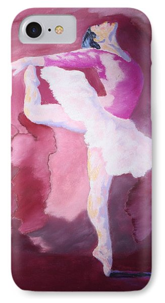 IPhone Case featuring the painting At The Ballet by Nancy Jolley