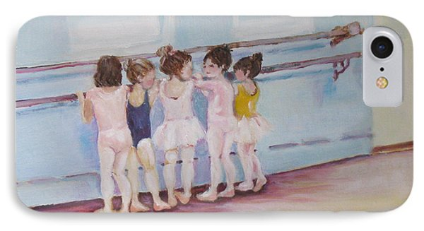 IPhone Case featuring the painting At The Barre by Julie Todd-Cundiff