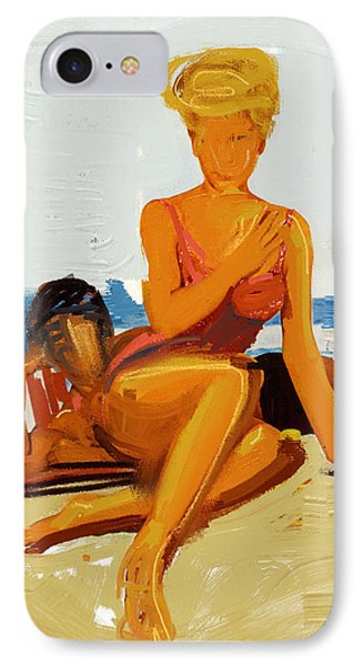 At The Beach IPhone Case by Russell Pierce