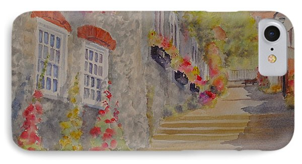 IPhone Case featuring the painting At The Bottom Of Church Hill Hythe Kent by Beatrice Cloake