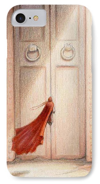 At The Door IPhone Case by Amy S Turner