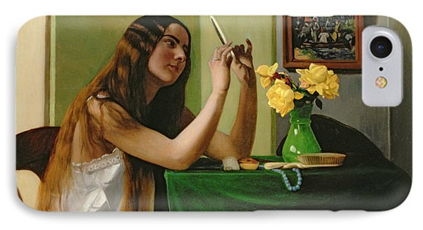 At The Dressing Table Phone Case by Felix Edouard Vallotton