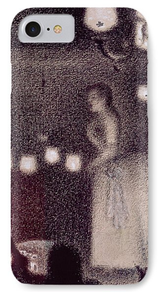 At The Eden Concert IPhone Case by Georges Pierre Seurat