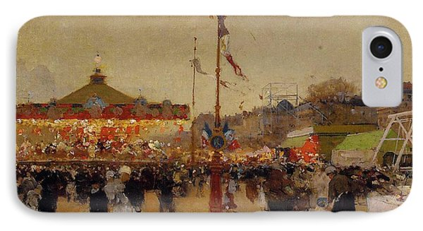At The Fair  Phone Case by Luigi Loir