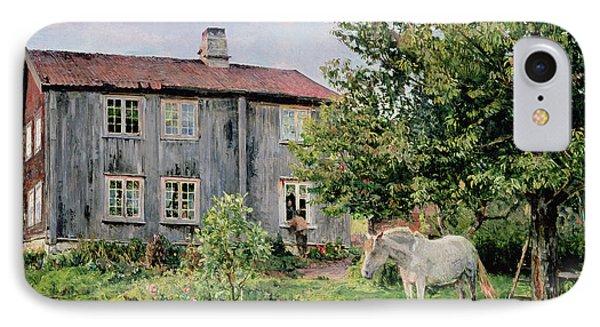 At The Farm Phone Case by Gerhard Peter Frantz Vilhelm Munthe