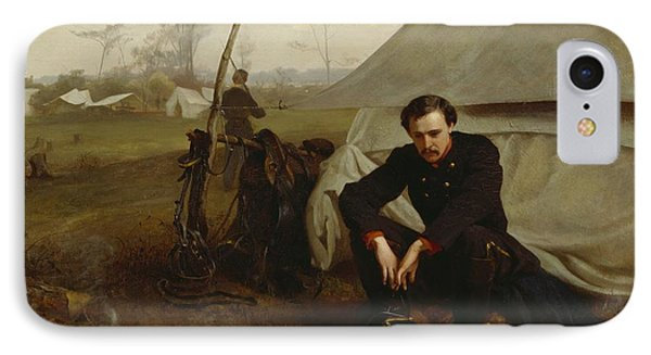 At The Front IPhone Case by George Cochran Lambdin