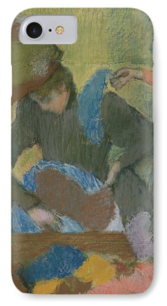 At The Hat Maker Phone Case by Edgar Degas