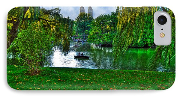 At The Lake In Central Park Phone Case by Randy Aveille