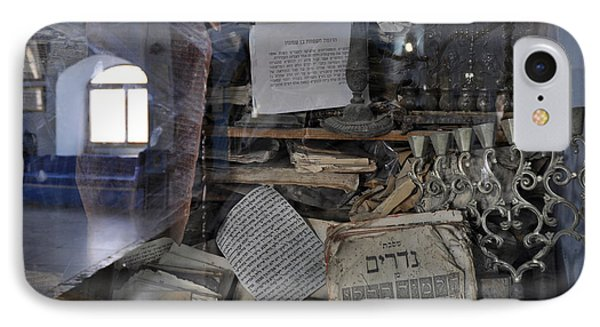 IPhone Case featuring the photograph At The Old Tample Of Safed  by Dubi Roman