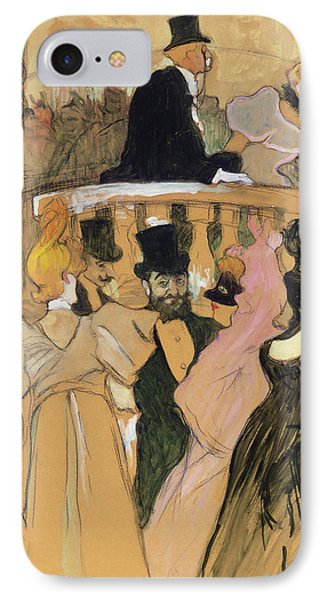 At The Opera Ball IPhone Case by Henri de Toulouse-Lautrec