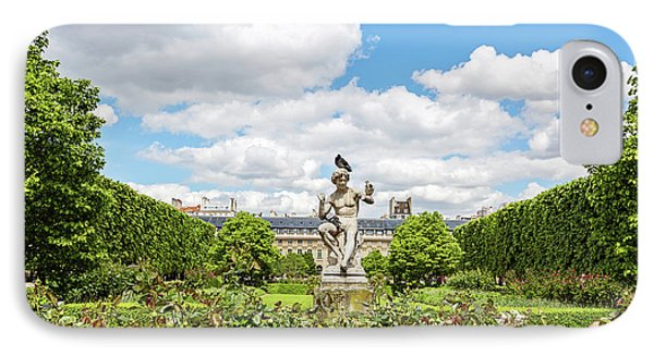 IPhone Case featuring the photograph At The Palais Royal Gardens by Melanie Alexandra Price