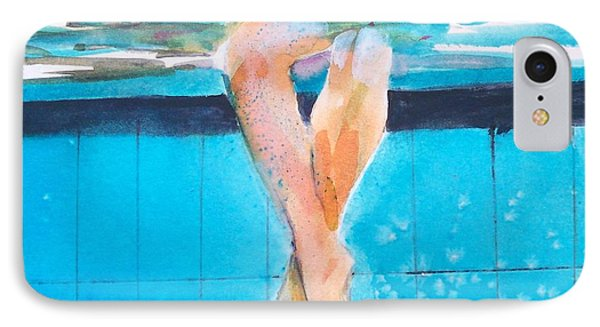 At The Pool IPhone Case by Ed  Heaton