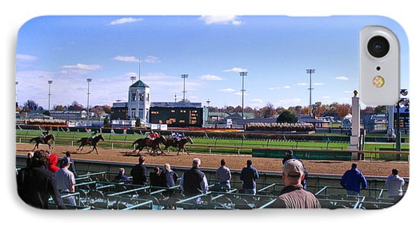 At The Races At Churchill Downs IPhone Case