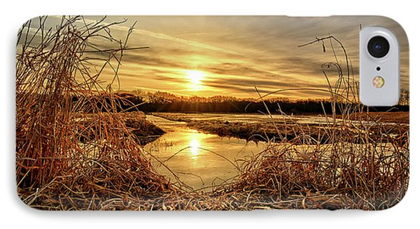 At The Rivers Edge IPhone Case by Bonfire Photography