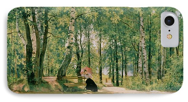 At The Summer Cottage Phone Case by Ivan Ivanovich Shishkin
