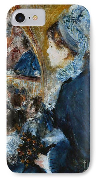 At The Theater IPhone Case by Pierre Auguste Renoir
