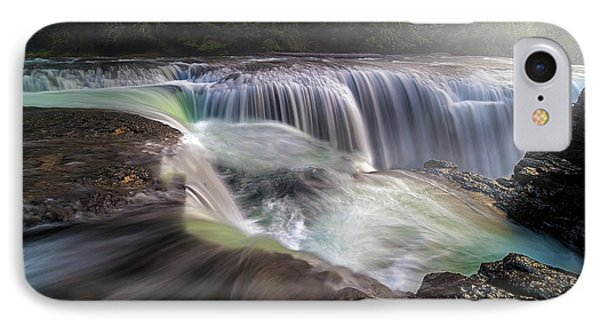 At The Top Of Lower Lewis River Falls Phone Case by David Gn