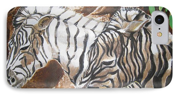 IPhone Case featuring the painting At The Zoo by Julie Todd-Cundiff
