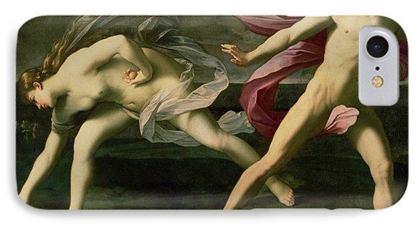 Atalanta And Hippomenes IPhone Case by Guido Reni