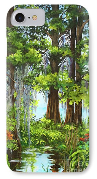 IPhone Case featuring the painting Atchafalaya Swamp by Dianne Parks