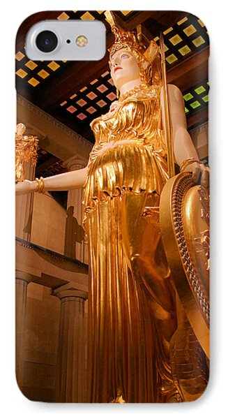 Athena With Nike Phone Case by Kristin Elmquist