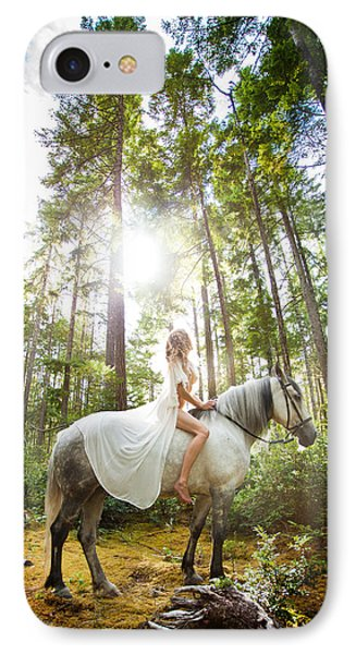 IPhone Case featuring the photograph Athena's Clearing by Dario Infini
