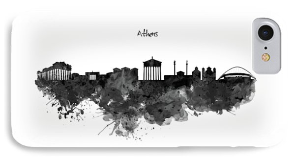 Athens Black And White Skyline IPhone Case