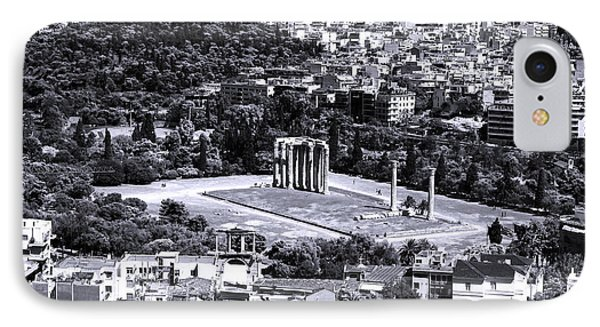 Athens Cityscape Iv Phone Case by John Rizzuto
