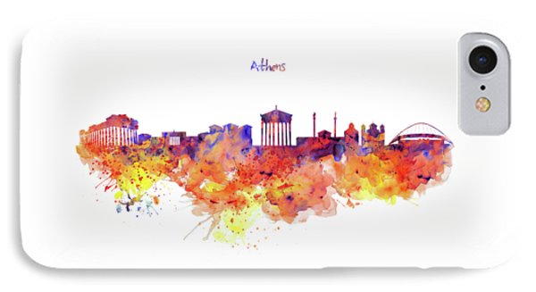 Athens Skyline IPhone Case