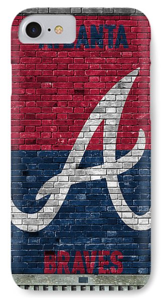Atlanta Braves Brick Wall IPhone Case by Joe Hamilton