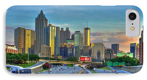 IPhone Case featuring the photograph Atlanta Coca-cola Sunset Reflections Art by Reid Callaway