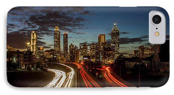 IPhone Case featuring the photograph Atlanta Downtown Infusion Atlanta Sunset Cityscapes Art by Reid Callaway