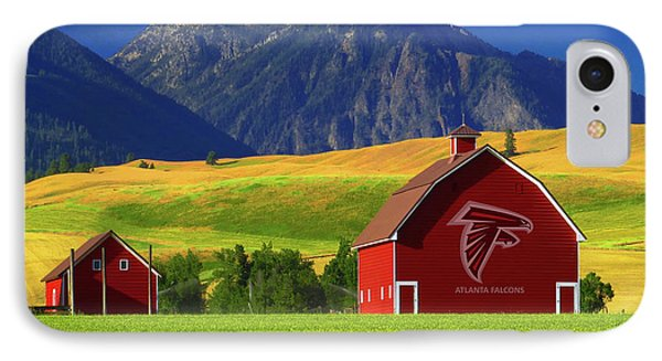 IPhone Case featuring the photograph Atlanta Falcons Barn by Movie Poster Prints