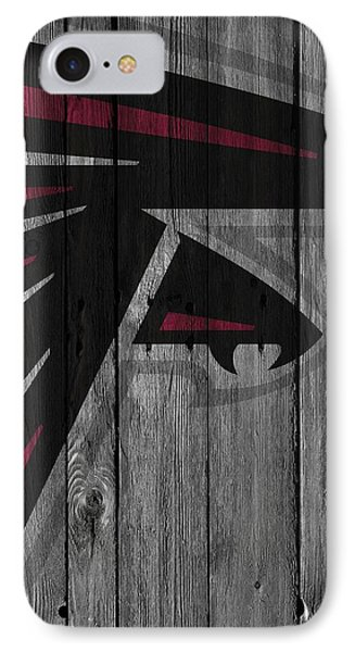 Atlanta Falcons Wood Fence IPhone 7 Case by Joe Hamilton
