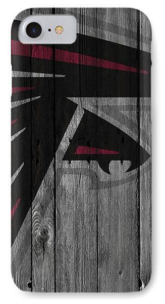 Atlanta Falcons Wood Fence IPhone Case by Joe Hamilton