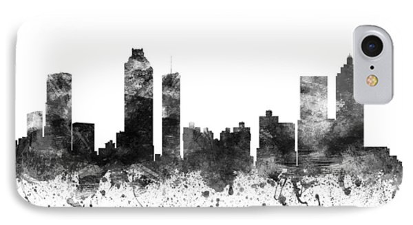Atlanta Georgia Cityscape 02bw IPhone Case by Aged Pixel