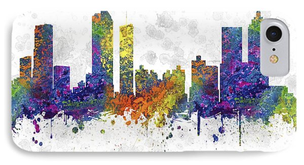 Atlanta Georgia Skyline Color 03sq IPhone Case by Aged Pixel