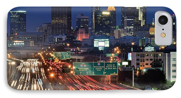 Atlanta Heavy Traffic IPhone Case by Frozen in Time Fine Art Photography