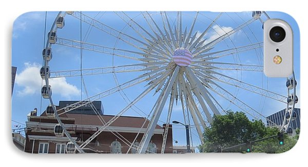 IPhone Case featuring the photograph Atlanta Wheel by Aaron Martens
