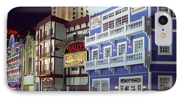 Atlantic City Boardwalk At Night IPhone Case by Sally Weigand