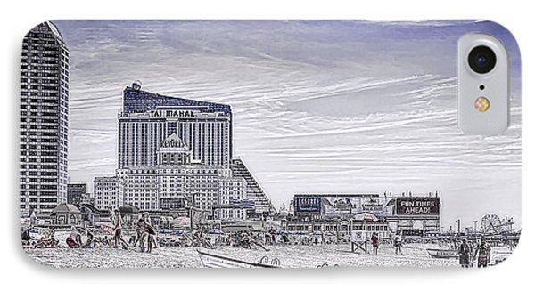 IPhone Case featuring the photograph Atlantic City by Linda Constant