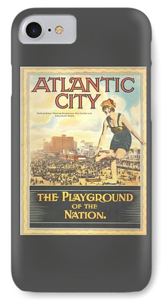 Atlantic City The Playground Of The Nation Phone Case by NewJerseyAlmanac