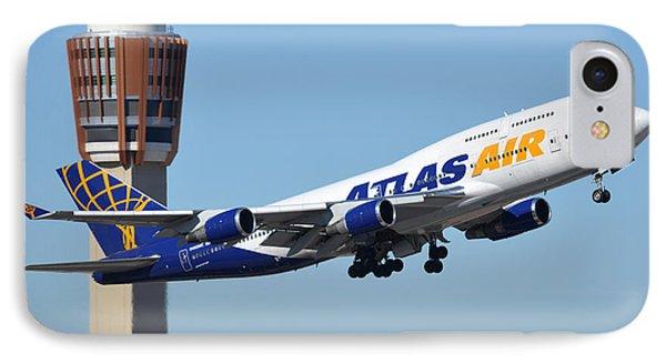 Atlas Air Boeing 747-446 N465mc Phoenix Sky Harbor January 12 2015 Phone Case by Brian Lockett