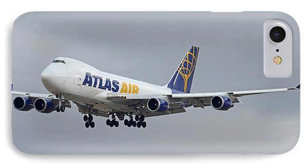 Atlas Air Boeing 747-47uf N415mc Phoenix Sky Harbor December 23 2015  IPhone Case
