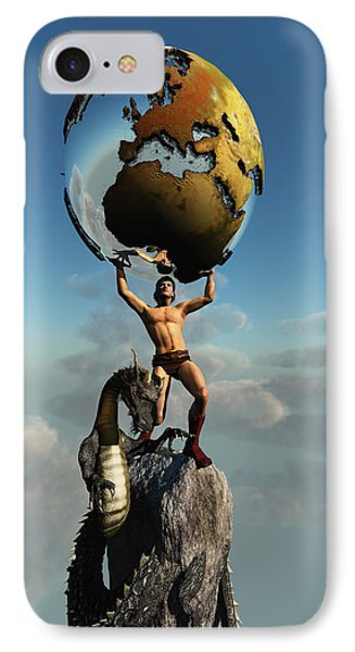 Atlas Greek God Phone Case by Corey Ford