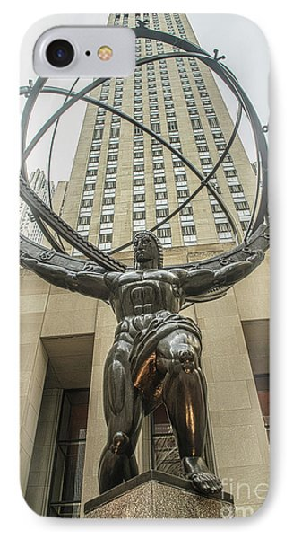 Atlas Rockefeller Center IPhone Case by Timothy Lowry