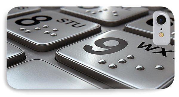 Atm Keypad Closeup IPhone Case by Allan Swart