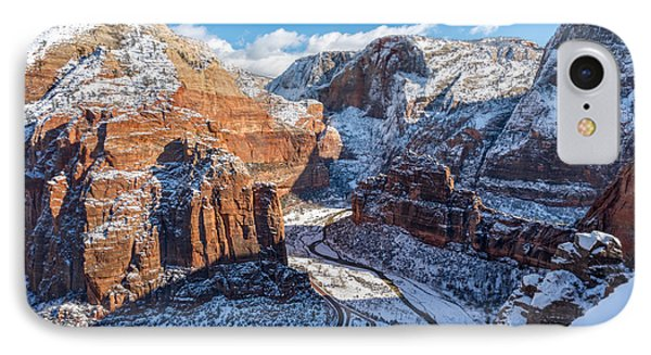 Atop Angels Landing In Winter IPhone Case by James Udall