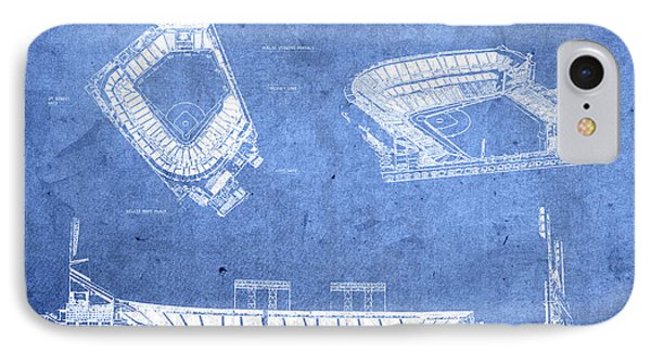 Att Park San Francisco Giants Baseball Stadium Field Blueprints IPhone Case by Design Turnpike